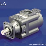 Vane pump with PTO DIN flange